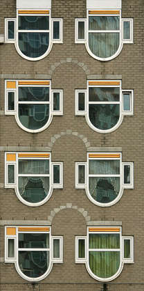 building facade highrise high rise window windows
